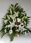 White Lilies Basket from Lagana Florist in Middletown, CT