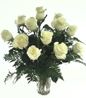 White Rose Bouquet from Lagana Florist in Middletown, CT