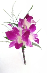 Purple Dendrobium Boutonniere from Lagana Florist in Middletown, CT
