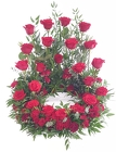 Red Rose Urn Wreath from Lagana Florist in Middletown, CT