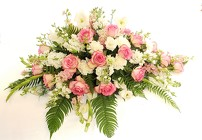 Peaceful Pink Casket Spray from Lagana Florist in Middletown, CT