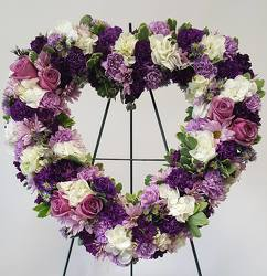 Shades of Purple Heart from Lagana Florist in Middletown, CT