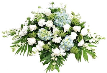 Heavenly Clouds Casket Spray from Lagana Florist in Middletown, CT