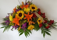 Radiantly Remembered Casket Spray from Lagana Florist in Middletown, CT