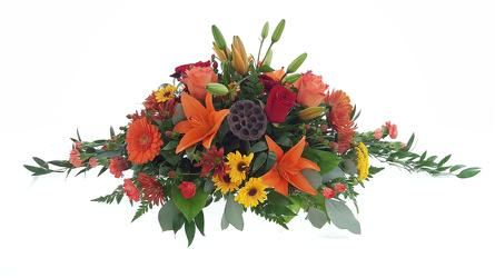 Fall-tacular Centerpiece from Lagana Florist in Middletown, CT