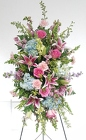 Pastel and Pinks Standing Spray from Lagana Florist in Middletown, CT