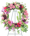 Ever Enchanting Standing Wreath from Lagana Florist in Middletown, CT