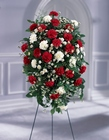 Crimson & White Standing Spray from Lagana Florist in Middletown, CT