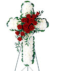 Floral Cross Easel from Lagana Florist in Middletown, CT