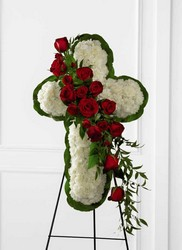 The FTD Floral Cross Easel from Lagana Florist in Middletown, CT