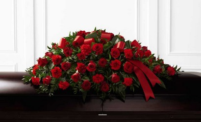 The FTD Dearly Departed(tm) Casket Spray from Lagana Florist in Middletown, CT