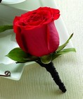 The FTD Red Rose Boutonniere from Lagana Florist in Middletown, CT