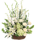 Peaceful Eternity Basket Arrangement from Lagana Florist in Middletown, CT