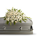 Silken Serenity Casket Spray from Lagana Florist in Middletown, CT