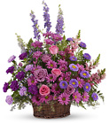 Gracious Lavender Basket from Lagana Florist in Middletown, CT