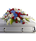 Distinguished Service Casket Spray from Lagana Florist in Middletown, CT