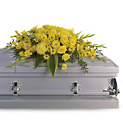 Graceful Grandeur Casket Spray from Lagana Florist in Middletown, CT